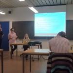 Während einer Lehrveranstaltung in Kopenhagen